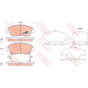 Комплект тормозных колодок, дисковый тормоз gdb3375 trw - HONDA CRX III (EH, EG) тарга 1.6 ESi (EH6)