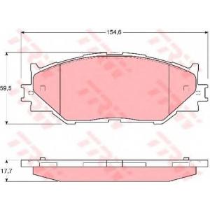 Комплект тормозных колодок, дисковый тормоз gdb3410 trw - LEXUS IS II (GSE2_, ALE2_, USE2_) седан 200d