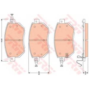 Комплект тормозных колодок, дисковый тормоз gdb3416 trw - NISSAN (DONGFENG) MURANO вездеход закрытый 3.5