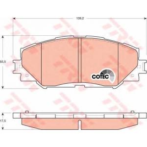 Комплект тормозных колодок, дисковый тормоз gdb3425 trw - TOYOTA URBAN CRUISER (NSP1_, NLP1_, ZSP1_, NCP11_) Наклонная задняя часть 1.33