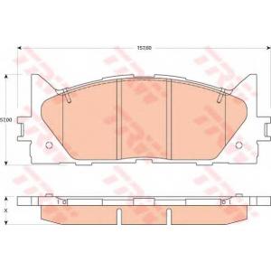 Комплект тормозных колодок, дисковый тормоз gdb3429 trw - TOYOTA CAMRY седан (_V5_) седан 2.5 (ASV50)