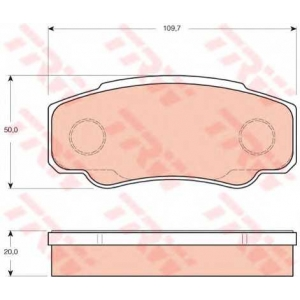 Комплект тормозных колодок, дисковый тормоз gdb3441 trw - LIFAN FENGSHUN вэн вэн 1.3
