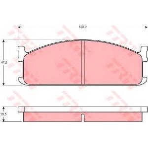 TRW GDB345 Комплект тормозных колодок, дисковый тормоз Исузу Мидиан