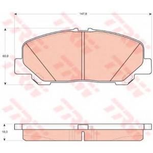 Комплект тормозных колодок, дисковый тормоз gdb3455 trw - TOYOTA PREVIA (MCR3_, ACR3_, CLR3_) вэн 2.4