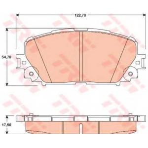 Комплект тормозных колодок, дисковый тормоз gdb3460 trw - TOYOTA YARIS (_P9_) Наклонная задняя часть 1.33 VVT-i