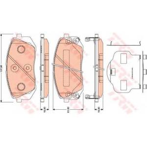TRW GDB3461 Колодка торм. HYUNDAI ix35 передн. (пр-во TRW)