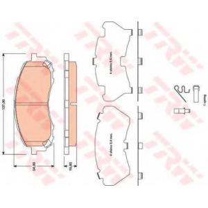 Комплект тормозных колодок, дисковый тормоз gdb3469 trw - SUBARU IMPREZA седан (GR) седан 1.5