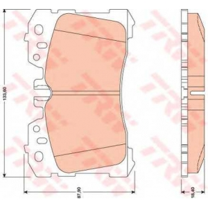 Комплект тормозных колодок, дисковый тормоз gdb3473 trw - LEXUS LS (UVF4_, USF4_) седан 460