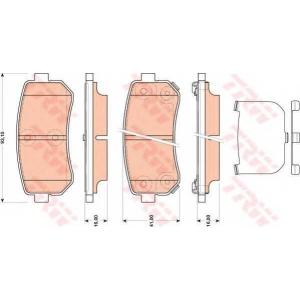 Комплект тормозных колодок, дисковый тормоз gdb3474 trw - HYUNDAI i20 (PB, PBT) Наклонная задняя часть 1.4 CRDi
