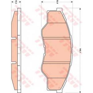 TRW GDB3500 АКЦІЯ!!! Гальмівні колодки дискові TOYOTA Hilux pikap 2,5 \F \07>>