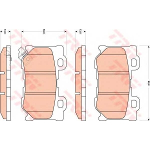 Комплект тормозных колодок, дисковый тормоз gdb3515 trw - NISSAN 370 Z Roadster (Z34) кабрио 3.7