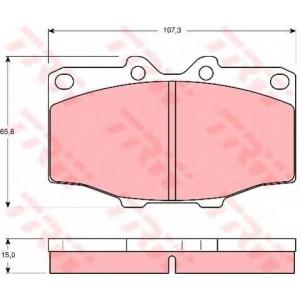 Комплект тормозных колодок, дисковый тормоз gdb352 trw - TOYOTA LAND CRUISER (_J7_) вездеход закрытый 2.4 (RJ70_, RJ73_)