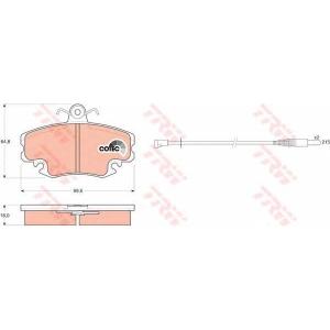 Комплект тормозных колодок, дисковый тормоз gdb400 trw - RENAULT SUPER 5 (B/C40_) Наклонная задняя часть 1.4 (B/C40M)