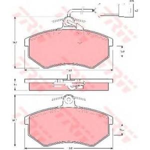 TRW GDB404 Комплект тормозных колодок, дисковый тормоз