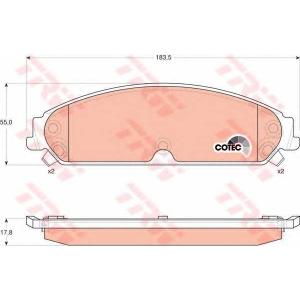 Комплект тормозных колодок, дисковый тормоз gdb4134 trw - CHRYSLER 300 C седан 2.7