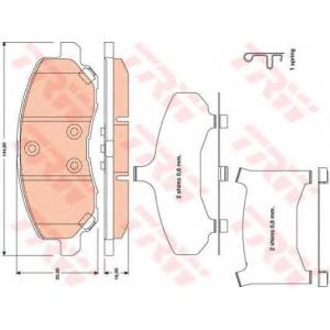 Комплект тормозных колодок, дисковый тормоз gdb4142 trw - MITSUBISHI ASX (GA_W_) вездеход закрытый 1.8 DI-D
