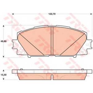 Комплект тормозных колодок, дисковый тормоз gdb4173 trw - LEXUS CT (ZWA1_) Наклонная задняя часть 200h