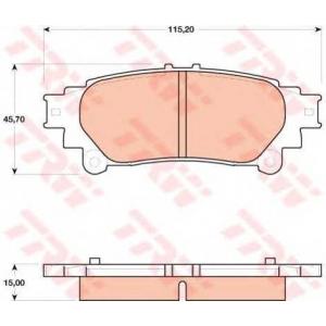 TRW GDB4174 Комплект тормозных колодок, дисковый тормоз