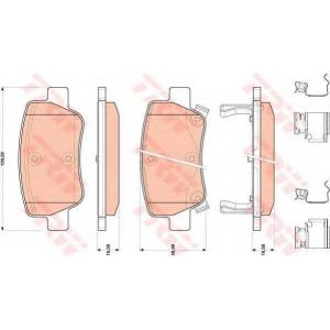 gdb4175 trw Комплект тормозных колодок, дисковый тормоз TOYOTA AVENSIS седан 2.0 D-4D