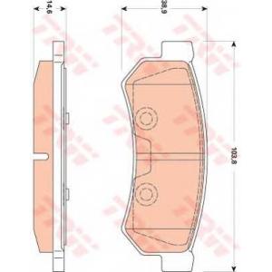 Комплект тормозных колодок, дисковый тормоз gdb4178 trw - CHEVROLET NUBIRA седан седан 1.4