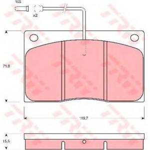 TRW GDB443 GDB443  TRW - Гальмівні колодки до дисків
