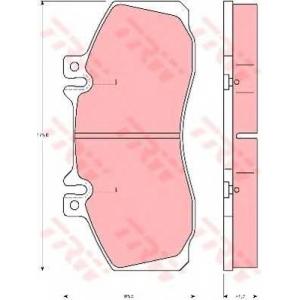 TRW AUTOMOTIVE GDB5050 Гальмівні колодки, дискові