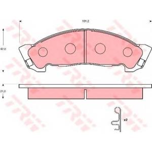 TRW GDB7087 Комплект тормозных колодок, дисковый тормоз Исузу Ельф