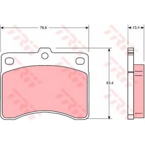 TRW GDB736 Комплект тормозных колодок, дисковый тормоз Дайхатсу