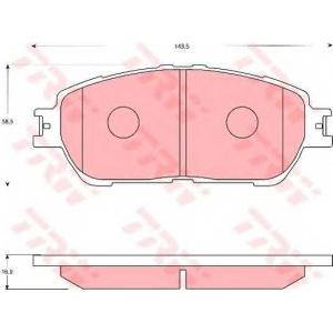 Комплект тормозных колодок, дисковый тормоз gdb7677 trw - TOYOTA PREVIA (MCR3_, ACR3_, CLR3_) вэн 2.4 16V