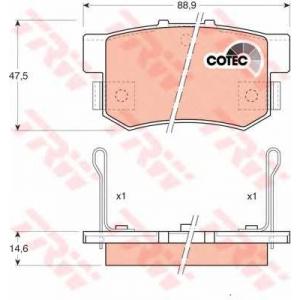 Комплект тормозных колодок, дисковый тормоз gdb774 trw - ROVER 600 (RH) седан 620 Si