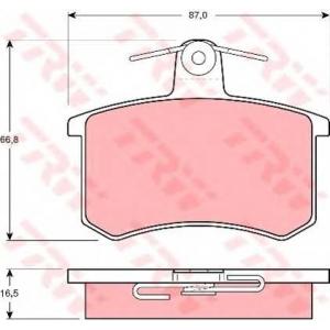 TRW GDB814 Комплект тормозных колодок, дисковый тормоз