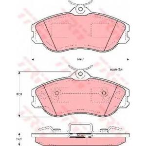 TRW GDB815 Комплект тормозных колодок, дисковый тормоз