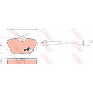 Комплект тормозных колодок, дисковый тормоз gdb820 trw - BMW 3 (E30) седан 316 (Ecotronic)