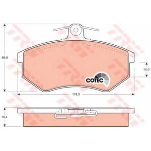 Комплект тормозных колодок, дисковый тормоз gdb826 trw - AUDI 80 (81, 85, B2) седан 1.8