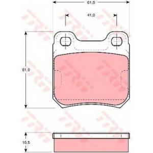 Комплект тормозных колодок, дисковый тормоз gdb914 trw - OPEL OMEGA A (16_, 17_, 19_) седан 1.8