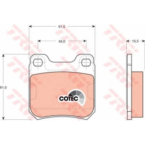 Комплект тормозных колодок, дисковый тормоз gdb915 trw - OPEL OMEGA A (16_, 17_, 19_) седан 1.8 N