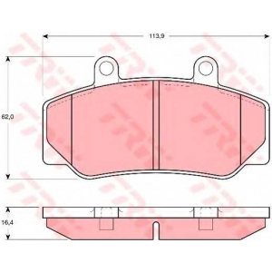 TRW GDB970 Комплект тормозных колодок, дисковый тормоз