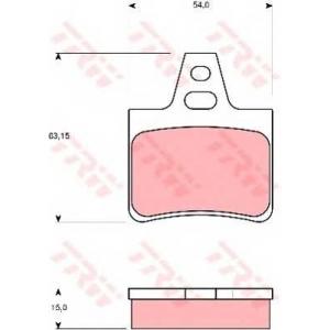 TRW GDB986 Комплект тормозных колодок, дисковый тормоз