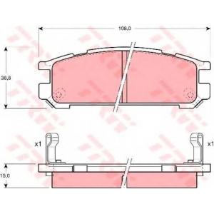 TRW GDB990 АКЦІЯ!!! Гальмівні колодки дискові SUBARU Impreza/Impreza Estate/Wagon (Plus)/Legacy/Legacy Estate/W