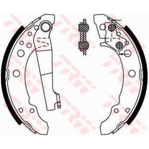 Комплект тормозных колодок gs8166 trw - AUDI 80 (81, 85, B2) седан 1.3