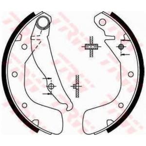 Комплект тормозных колодок gs8543 trw - OPEL VECTRA A Наклонная задняя часть (88_, 89_) Наклонная задняя часть 1.6 i