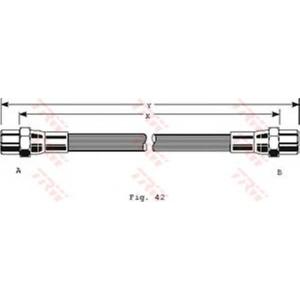TRW pha153 Шланг тормозной передний