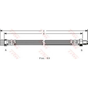 TRW PHA251 Тормозной шланг