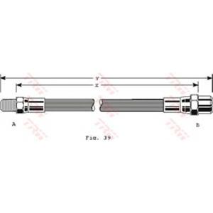 TRW PHB122 Тормозной шланг задий МВ207-609