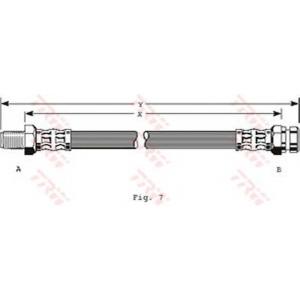 TRW PHB142 Гальмівний шланг MITSUBISHI Colt/Cordia/Galant/L300/Lancer/Tredia