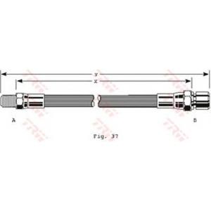TRW PHB152 Шланг тормозной ВАЗ 2101-09, 2121, 2110 1.5, 1.5 16V (пр-во TRW)