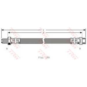 TRW PHB320 Шланг тормозной MB передн. (пр-во TRW)
