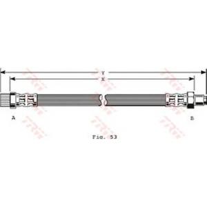 TRW PHB372 Шланг тормозной CITROEN, PEUGEOT передн. (пр-во TRW)