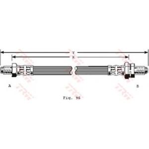 TRW AUTOMOTIVE PHC204 Гальмівний шланг