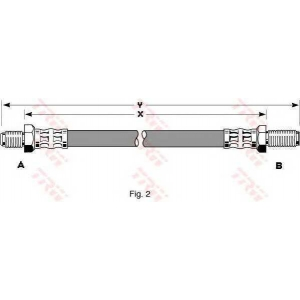 TRW PHC205 Шланг тормозной FORD задн. (пр-во TRW)